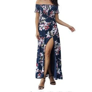 NWT Floral Off The Shoulder Dress